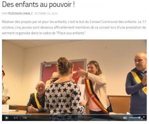 les équipes de Canalc sont venues faire un reportage sur la prestation de serment du Conseil Communal des Enfants de Jemeppe-sur-Sambre. (Re)découvrez-le via ce lien : http://www.canalc.be/des-enfants-au-pouvoir S. Thoron